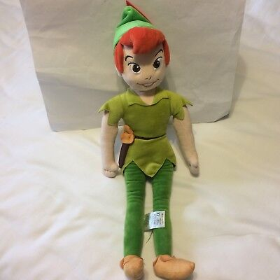 """Authentic Disney Store PETER PAN Plush 21"""" Doll Collectible Excellent"""