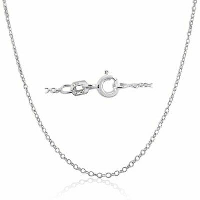 Made In Italy .925 Sterling Silver 1mm Cable Chain Necklace In 12 - 36 Inches