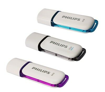 Philips USB 2.0 Snow Edition Flash Drive 16GB 32GB 64GB Storage Data Traveler