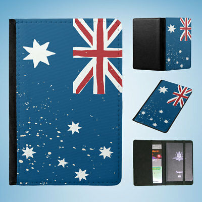 Australia Country Flag Flip Passport Wallet Organizer Cover Holder