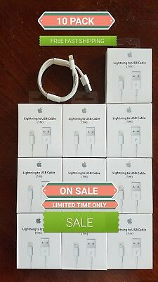 (10 PACK) 1M/3ft  lightning usb Cable  for oem Apple iPhone: X,8,7,6,5,SE