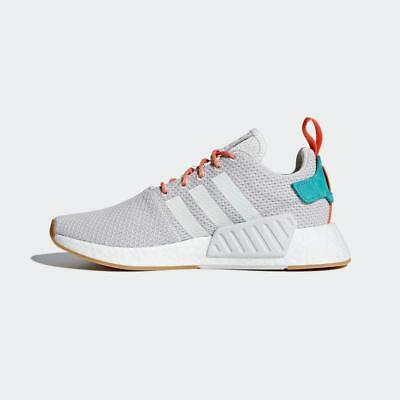 b5746242b782a Adidas Originals Nmd R2 Summer Cq3080 Crystal White grey gum orange  turquoise