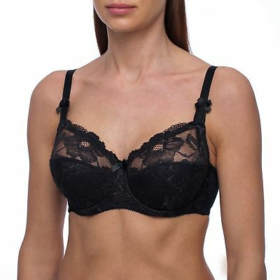 d2371c8cc8 Full Coverage Plus Size Underwire Lightly Padded Comfortable Lace Figure Cup  Bra