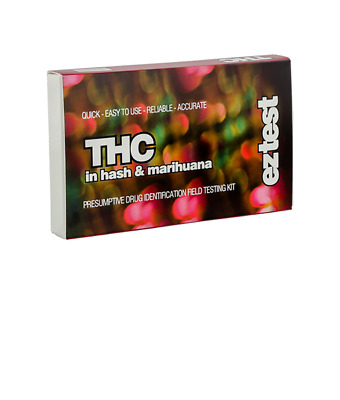 EZ TEST KIT FOR THC IN HASH AND MARIHUANA (10 pack)