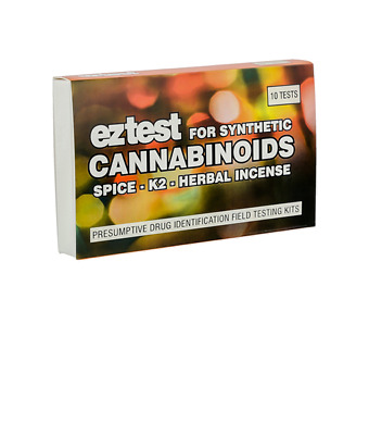 EZ TEST KIT FOR SYNTHETIC CANNABINOIDS: SPICE, K2 AND HERBAL INCENSE (10 pack)