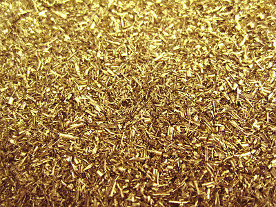 5oz Brass Shavings 100% Clean & Dry - filings turnings orgone art