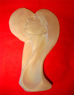 Austin Productions *faces Of Love* Lucite Sculpture 14 1/2""