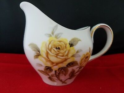 "Vintage Harmony House. Yellow Rose. Creamer. Made in Japan 5 1/2""L 4""H"