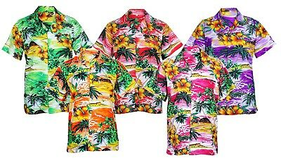 Mens Hawaiian Shirt Stag Beach Hawaii Aloha Party Summer Holiday Fancy S -Xxl D1