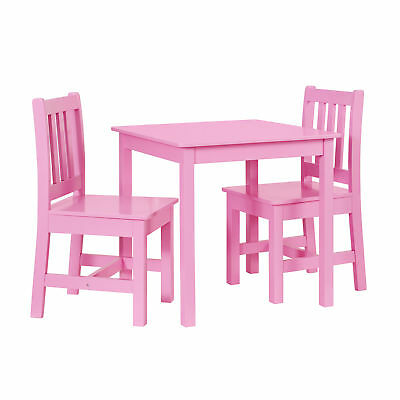 Linon Mdf And Pine Table Chair Set In Pink Finish YT106PINK01U