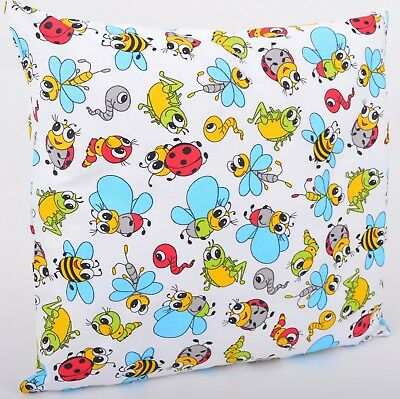 100% Cotton Cushion Cover Pillows Cases Home Family Ladybirds and Bees
