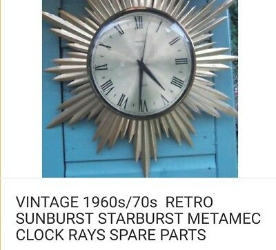 sunbeam clock rays spare parts