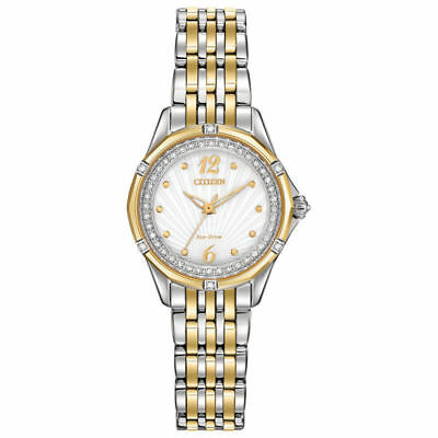 Citizen Eco-Drive EM0374-50A Women's Signature Versaille Diamond Two-Tone Watch