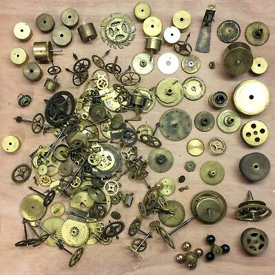 Job Lot Antique French Clock Parts including Barrels Gears & Lots More 5kg+