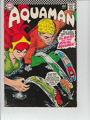 Aquaman  #27 1966 Dc -Battle Of Rival Aquamen-  Queen Mera''  Fn/vg