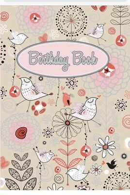 Birds  Birthday Book 100mm X 150mm Oz Corp
