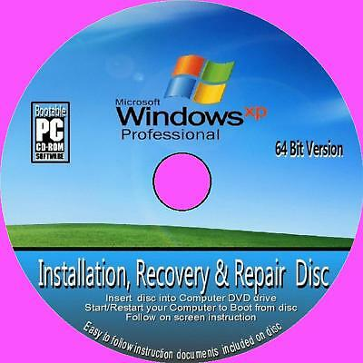 FULL WINDOWS XP 64-bit PROFESSIONAL SP2 + CODE CD BOOTABLE