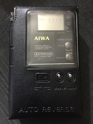 Aiwa Stereo Radio Cassette Recorder Hs-J202 Vintage Working Order