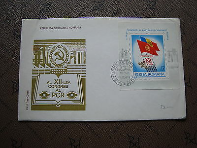 ROMANIA envelope 15/10/79 -stamp Yvert and Tellier bloc n°137 (cy2)