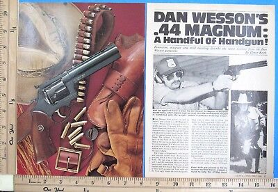 1982 DAN WESSON 44 MAGNUM revolver 5-Page Magazine Article by ELMER KEITH 9827