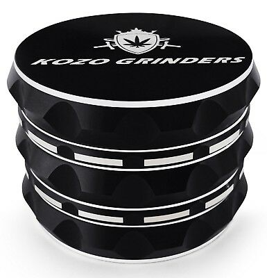 Best Herb Grinder For Weed With Pollen keef catcher large 4 pcs black aliminium