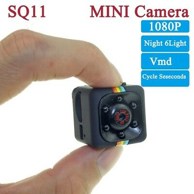 Telecamera Sq11 Mini Dv Video Camera Full Hd 1080P Microcamera Led Infrarossi