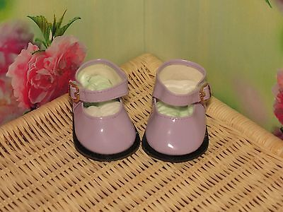 Shoes To Fit The American Galoob Baby Face Girl Doll Lavender Shiny Maryjane