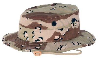 Nwot Mil-Type Hot Weather Type Ii 6 Color Chocolate Chip Camo Boonie Hat Cap