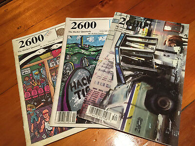 2600: The Hacker Quarterly Magazine - Three Issues from 1994-1996 / Hacking Mag