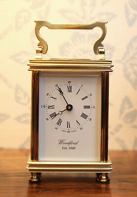 A Magnificent English Woodford Carriage Clock GWO & Key