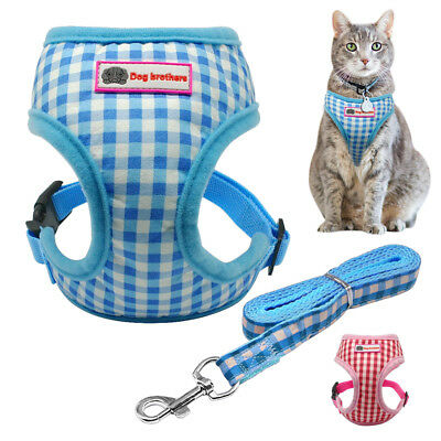 Cat Walking Jacket Harness & Leash Kitten Clothes Adjustable Vest for Pets Puppy