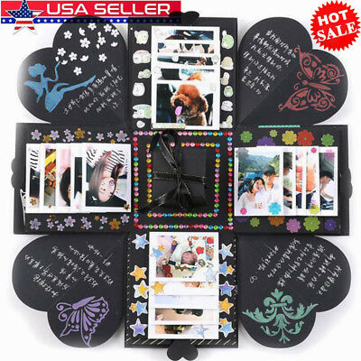 Birthday Gift Explosion Box Memory Scrapbook Photo Album Craft Kits Anniversary