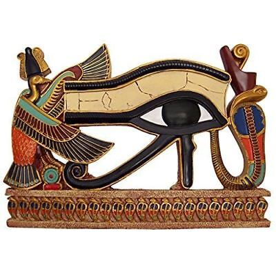 Egyptian Eye of Horus Wall Sculpture, Full Color