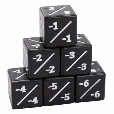 5x Black Dice Counters Negative -1/-1 For Magic: The Gathering Other MTG Items