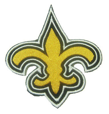 New Orleans Saints Logo NFL embroidered iron on patch. 3 x 3.5 inch (i29)