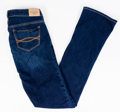 Abercrombie and Fitch Womens Skinny Stretch Jeans Dark Wash Size 2L 26/35