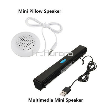 USB Music Laptop Multimedia Mini 3.5mm Pilllow Speaker for PC Computer MP4 iPod