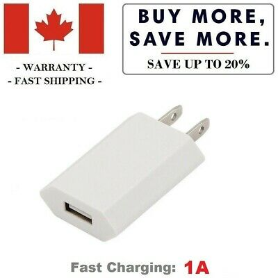 USB Charger Wall Plug Power Adapter for iPhone iPad iPod Samsung Google (1A)