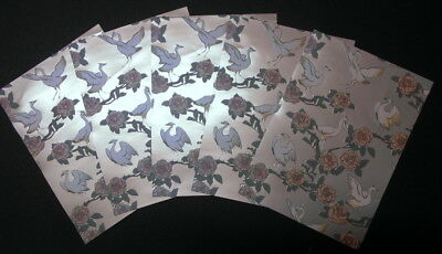 BIRDS OF BEL AIR ~ Cristina Re Luxury Lustre Paper x 5 ~ Scrapbooking/Cards
