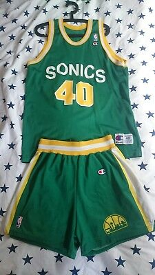 NBA Trikot + Shorts Seattle Supersonics Jersey Shawn Kemp #Champion#Vintage