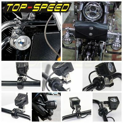 CNC Adjustable Motorcycle 1 1/4'' Crash Bar Handlebar Spotlight Mounting Bracket