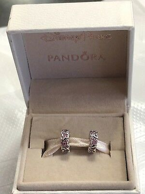 Disney Disneyland Pandora 2 xMinnie Mouse Spacer Pink Spring 2016 Park Exclusive