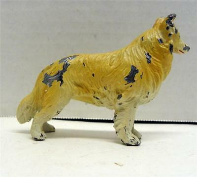 Vintage Hubley Cast Iron Collie Dog Paperweight!  Must See!