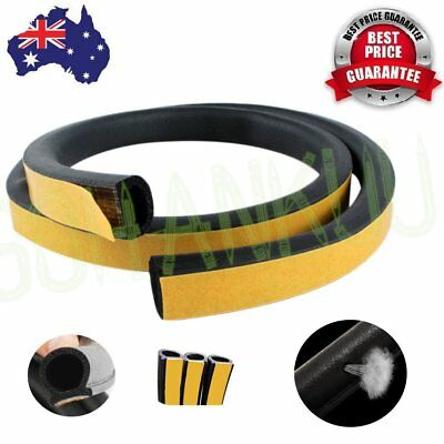 New 4m Foam Draught Excluder D Type Seal Strip Insulation for Car Door BU