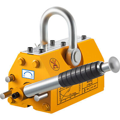TOP 400 KG Steel Magnetic Lifter Heavy Duty Crane Hoist Lifting Magnet 880lb