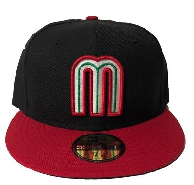 New Era Mexico WBC 17 Black Red 59Fifty Fitted Hat Cap World Baseball  Classic 6e3be2a2a5e