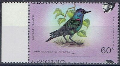 Lesotho 1988 Birds 60s with major shift of horizontal perforations
