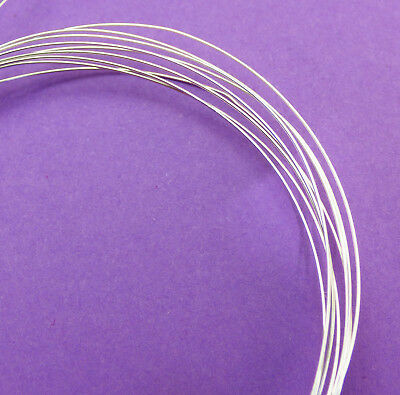 5ft 1525mm 28 Gauge 0.37mm 925 Sterling Silver Light weight Dead Soft Round wire