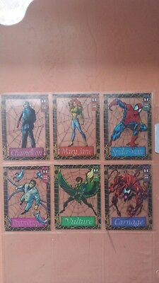 1994 Amazing Spiderman trading cards marvel suspended animation