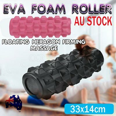 Foam Roller EVA Physio AB Yoga Pilates Exercise Back Home Gym Massage AU C1
